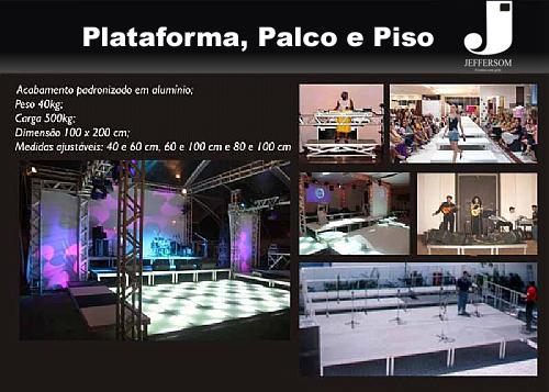 Plataforma, palco e piso